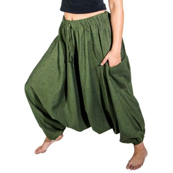 Kunst und Magie Lady Cotton Harem Pants with PeaceSymbol – Bild 9