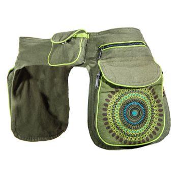 Kunst und Magie Double fanny pack Sidebag belt pouch pocket Festival Hippie Goa – Bild 11