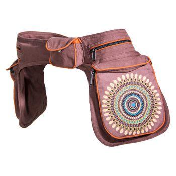 Kunst und Magie Double fanny pack Sidebag belt pouch pocket Festival Hippie Goa – Bild 6