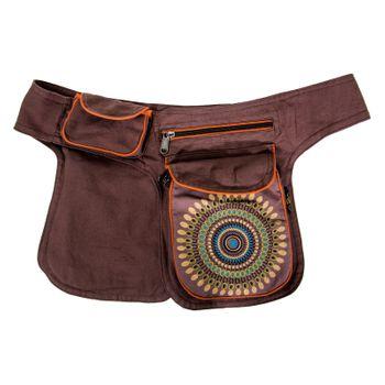 Kunst und Magie Double fanny pack Sidebag belt pouch pocket Festival Hippie Goa – Bild 7