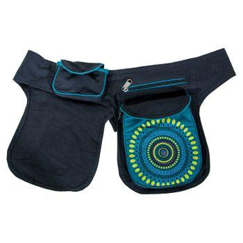 Kunst und Magie Double fanny pack Sidebag belt pouch pocket Festival Hippie Goa – Bild 2