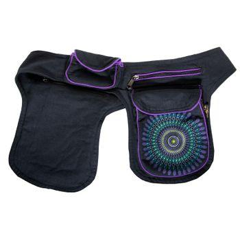Kunst und Magie Double fanny pack Sidebag belt pouch pocket Festival Hippie Goa – Bild 17