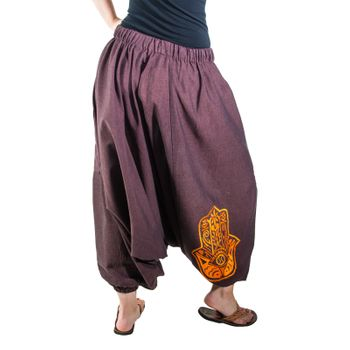 Kunst und Magie Lady Cotton Harem Pants with Hamsa  – Bild 8