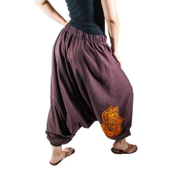 Kunst und Magie Lady Cotton Harem Pants with Hamsa  – Bild 7