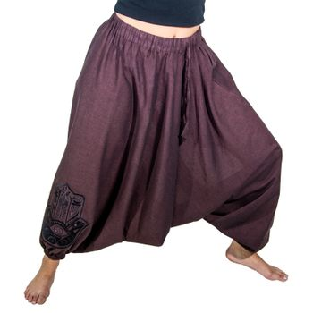 Kunst und Magie Lady Cotton Harem Pants with Hamsa  – Bild 16