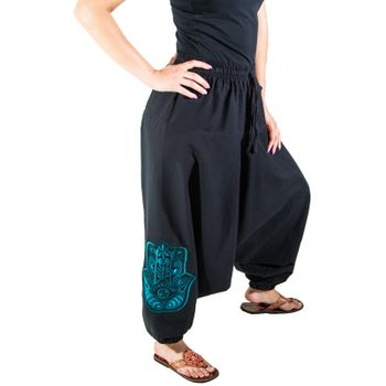 Kunst und Magie Lady Cotton Harem Pants with Hamsa  – Bild 14