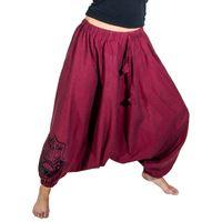 Kunst und Magie Lady Cotton Harem Pants with Hamsa  001