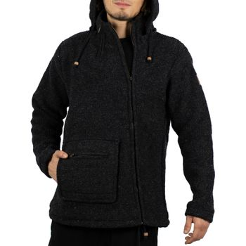 Unisex Wool Knit Jacket Hippie Goa With Hood