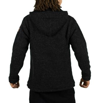 Unisex Wool Knit Jacket Hippie Goa With Hood – Bild 6