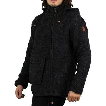 Unisex Wool Knit Jacket Hippie Goa With Hood – Bild 2