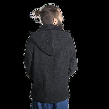 Unisex Wool Knit Jacket Hippie Goa With Hood – Bild 4