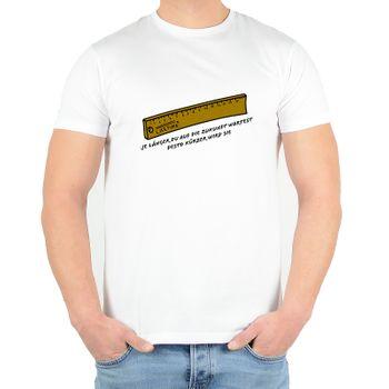 """Kunst und Magie Herren T-Shirt  mit Spruch """"Je länger du auf die Zukunft wartest"""" – Bild 3"""