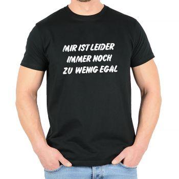 """Kunst und Magie Herren T-Shirt  mit Spruch """"Mir ist leider immernoch zu wenig egal"""" – Bild 1"""