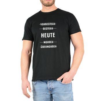 """Kunst und Magie Herren T-Shirt  mit Spruch """"Vorgestern"""" – Bild 2"""