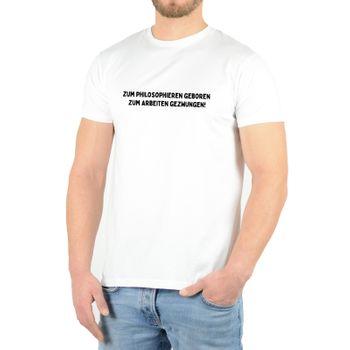 """Kunst und Magie Herren T-Shirt  mit Spruch """"Zum Philosophieren geboren"""" – Bild 4"""