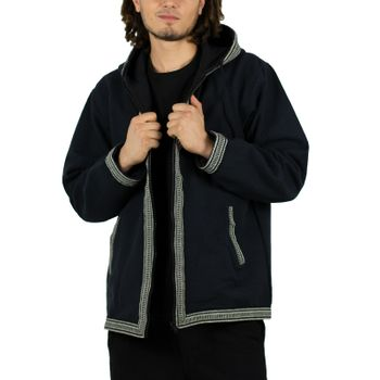 Kunst und Magie Unisex cotton jacket with fleece lining and hood – Bild 9
