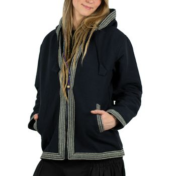 Kunst und Magie Unisex cotton jacket with fleece lining and hood – Bild 11