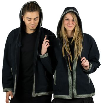 Unisex Cotton Jacket with fleece lining un hood form Kunst und Magie  – Bild 6