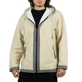 Kunst und Magie Unisex cotton jacket with fleece lining and hood – Bild 1