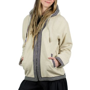 Kunst und Magie Unisex cotton jacket with fleece lining and hood – Bild 3