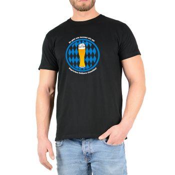 """Kunst und Magie Herren T-Shirt  mit Spruch """"Bayrischer Vollkorn Smoothie"""" – Bild 2"""