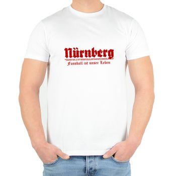 """Kunst und Magie Herren T-Shirt  mit Spruch """"Fußball ist unser Leben"""" – Bild 3"""