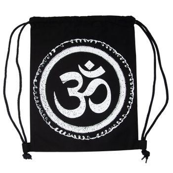 OM gym bag Kunst und Magie printed cotton bag 12L Gymbag with cords – Bild 9