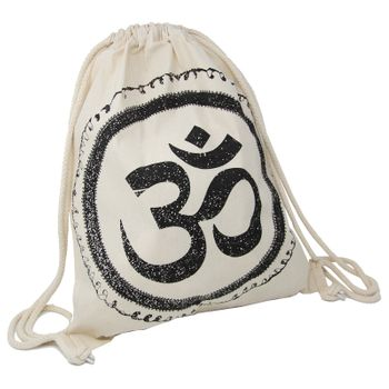 OM gym bag Kunst und Magie printed cotton bag 12L Gymbag with cords – Bild 3