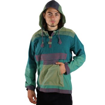 KUNST UND MAGIE Men's colorful alternative hoodie fisherman's hood + kangaroo pocket – Bild 13