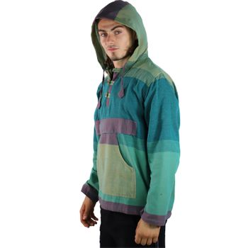 KUNST UND MAGIE Men's colorful alternative hoodie fisherman's hood + kangaroo pocket – Bild 14
