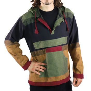 KUNST UND MAGIE Men's colorful alternative hoodie fisherman's hood + kangaroo pocket – Bild 2
