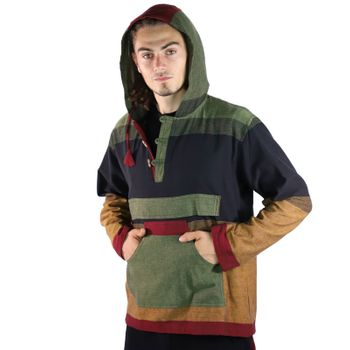 KUNST UND MAGIE Men's colorful alternative hoodie fisherman's hood + kangaroo pocket – Bild 5