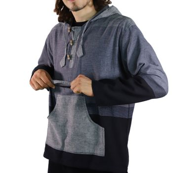 KUNST UND MAGIE Men's colorful alternative hoodie fisherman's hood + kangaroo pocket – Bild 10