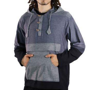 KUNST UND MAGIE Men's colorful alternative hoodie fisherman's hood + kangaroo pocket – Bild 8