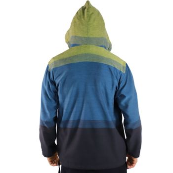 KUNST UND MAGIE Men's colorful alternative hoodie fisherman's hood + kangaroo pocket – Bild 20