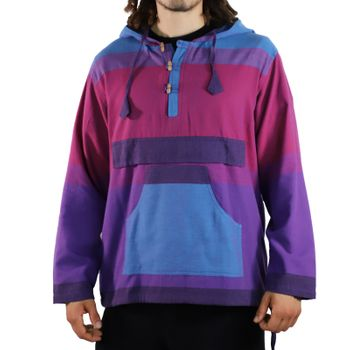 KUNST UND MAGIE Men's colorful alternative hoodie fisherman's hood + kangaroo pocket – Bild 22
