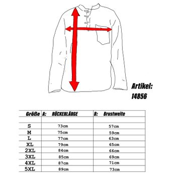 KUNST UND MAGIE Men's casual unicoloured alternative fisherman shirt casual shirt  – Bild 13