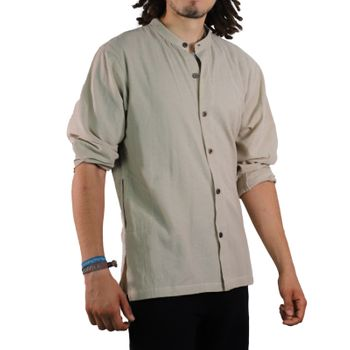 KUNST UND MAGIE Men's casual unicoloured alternative fisherman shirt casual shirt  – Bild 22