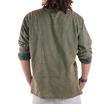 KUNST UND MAGIE Men's casual stonewashed alternative fisherman shirt casual shirt – Bild 11