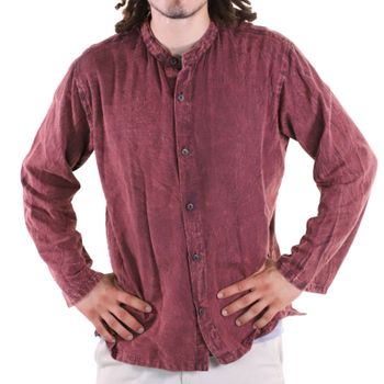 KUNST UND MAGIE Men's casual stonewashed alternative fisherman shirt casual shirt – Bild 23