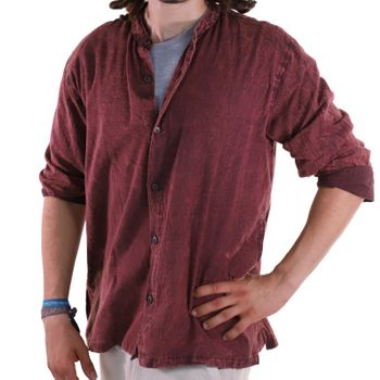 KUNST UND MAGIE Men's casual stonewashed alternative fisherman shirt casual shirt – Bild 22