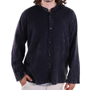 KUNST UND MAGIE Men's casual stonewashed alternative fisherman shirt casual shirt – Bild 2