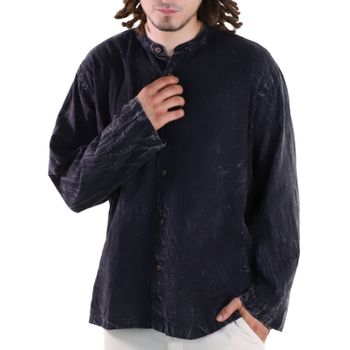KUNST UND MAGIE Men's casual stonewashed alternative fisherman shirt casual shirt – Bild 4