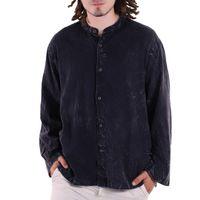 KUNST UND MAGIE Herren Hemd stonewashed  Fischerhemd Freizeithemd 001