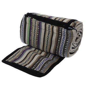 Kunst und Magie handgewebte Familien Picknickdecke mit Azteken Muster mit Tragegriff – Bild 15