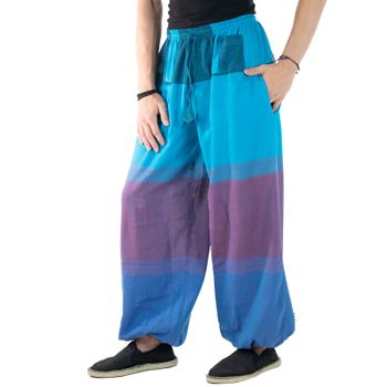 KUNST UND MAGIE Unisex colorful one size boho yoga bloomers summer pants harem pants – Bild 22