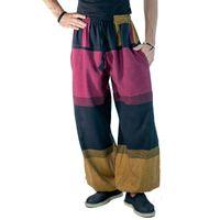 KUNST UND MAGIE Damen Yogahose Pumphose Pluderhose mehrfarbig aus Baumwolle lang  001