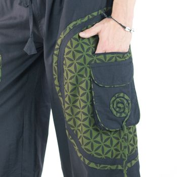 Men's - Harem Pants with Stylish Pattern Hippie Goa – Bild 8