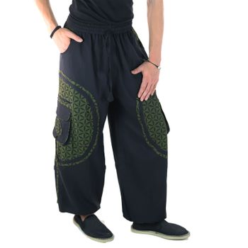 Men's - Harem Pants with Stylish Pattern Hippie Goa – Bild 5