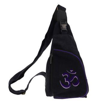 Kunst und Magie Hippie Goa Bodybag Schultertasche OM – Bild 3